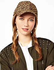 Pieces Greta Leopard Print Cap