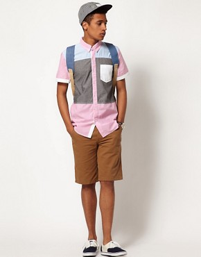 Image 4 ofBellfield Patchwork Shirt with Short Sleeves