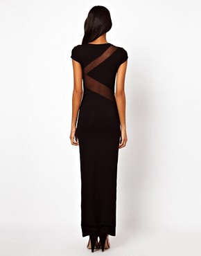 Image 2 ofASOS Mesh Insert Maxi Dress