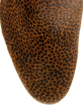 Image 3 ofOpening Ceremony Shirley Leopard Pony Heeled Ankle Boots