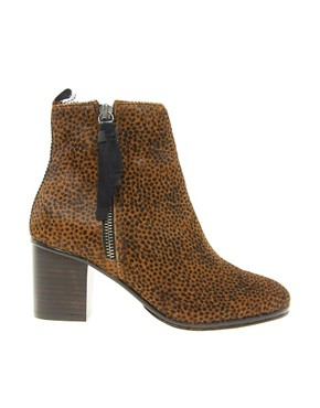 Image 4 ofOpening Ceremony Shirley Leopard Pony Heeled Ankle Boots