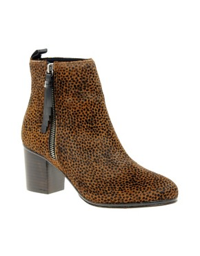 Image 1 ofOpening Ceremony Shirley Leopard Pony Heeled Ankle Boots