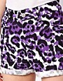 Image 3 ofMotel Denim Leopard Shorts