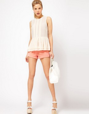 Image 4 ofASOS Sheer Top With Peplum