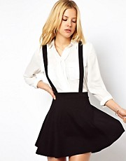 ASOS Ponte Skater Skirt with Braces