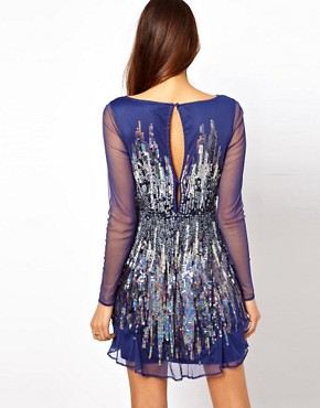 Image 2 of ASOS Skater Dress With Graduated Sequins