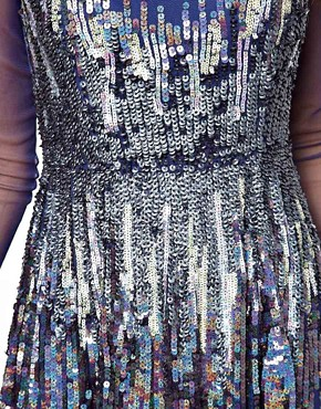 Image 3 of ASOS Skater Dress With Graduated Sequins
