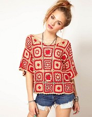 Minkpink Soul Hunter Blanket Top in Crochet