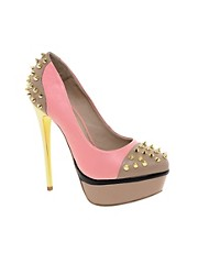 KG Esme Leather Pink Platform Shoes