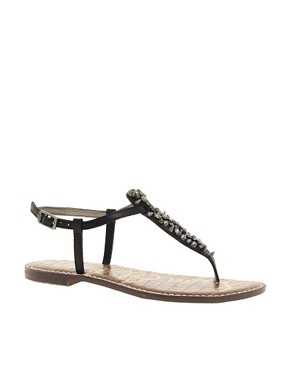 Image 1 ofSam Edelman Gwyneth Jewelled Flat Sandals