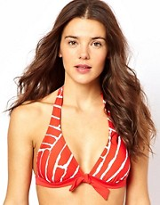 Esprit Glass Print Padded Halter Bikini Top