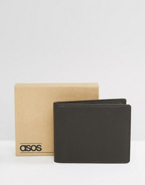 ASOS Leather Wallet In Brown