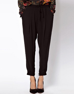 Image 4 ofASOS Luxe Tapered Trousers