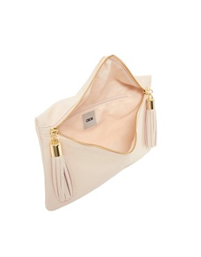 Image 4 ofASOS Clutch Bag With Double Tassel Zip