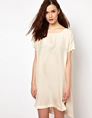 BZR Silk Panelled Tee Dress