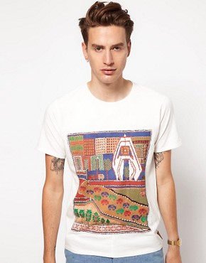 Image 1 ofVolklore T-Shirt with Village Print