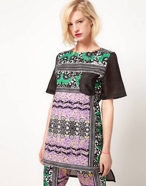 Image 1 ofASOS AFRICA Tunic In Mombasa Print