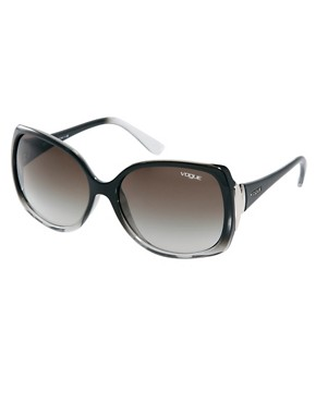 Image 1 ofVogue Smoke And Black Square Frame Sunglasses
