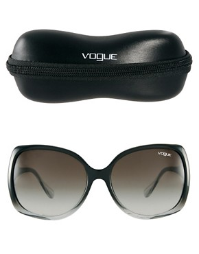 Image 2 ofVogue Smoke And Black Square Frame Sunglasses