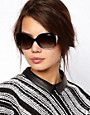 Image 3 ofVogue Smoke And Black Square Frame Sunglasses