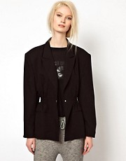 BACK by Ann-Sofie Back Boxer Jacket with Statement Shoulders