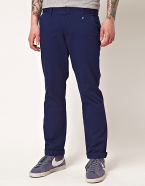 Image 1 of WESC Eddy Slim Fit Chinos Exclusive To Asos