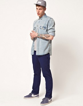 Image 4 of WESC Eddy Slim Fit Chinos Exclusive To Asos