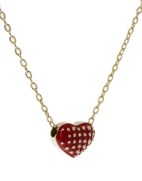 Image 4 ofFrench Connection Studded Heart Short Pendant Necklace