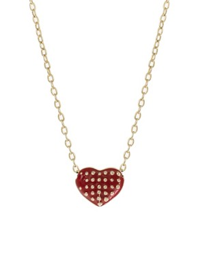 Image 1 ofFrench Connection Studded Heart Short Pendant Necklace
