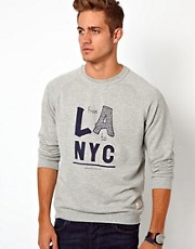 Jack &amp; Jones Sweatshirt With LA Print