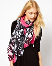 New Look Neon Border Aztec Scarf