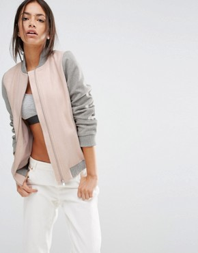 New Look Contrast Sleeve Bomber