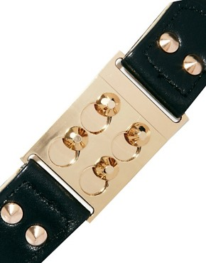 Image 2 ofASOS CURVE Buckle And Stud Detail Waist Belt