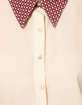 Image 3 ofASOS Shirt With Contrast Printed Collar
