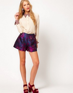Image 4 ofASOS Shirt With Contrast Printed Collar