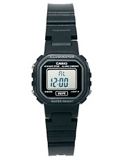 Casio Plastic Mini Watch With Black Face