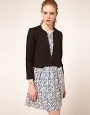 Vanessa Bruno Athe Cotton Jacket With Broidery Anglaise Panel