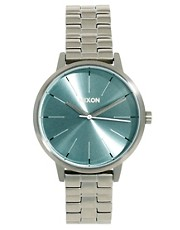 Nixon Silver Bracelet Watch with Mint Tea Face