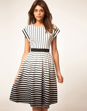 Image 1 ofASOS Midi Dress in Stripe