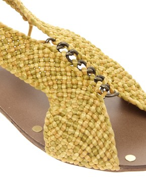 Image 2 ofMango Woven Elastic Back Flat Sandals