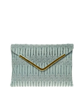 Image 1 ofASOS Weave Metal Bar Clutch