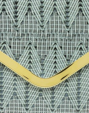 Image 4 ofASOS Weave Metal Bar Clutch