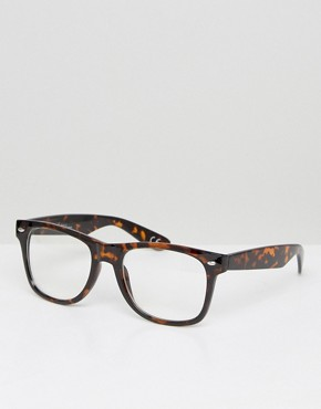 Jeepers Peepers Tort Wayfarer with Clear Lens