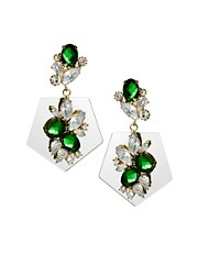 ASOS Jewel Mirror Drop Earrings