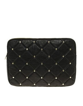 Image 1 ofASOS Quilted Stud Laptop Case