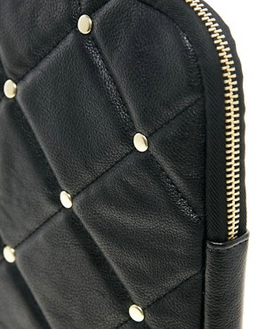 Image 2 ofASOS Quilted Stud Laptop Case