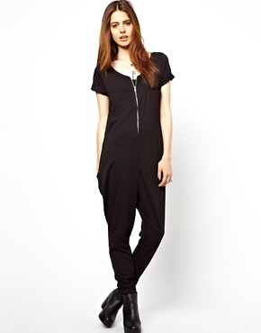 Image 1 ofASOS Onesie with Zip Front