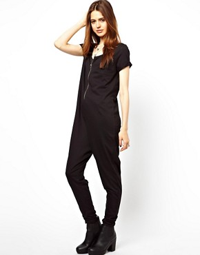 Image 4 ofASOS Onesie with Zip Front