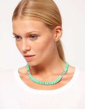Image 3 ofASOS Opaque Stone Collar Necklace