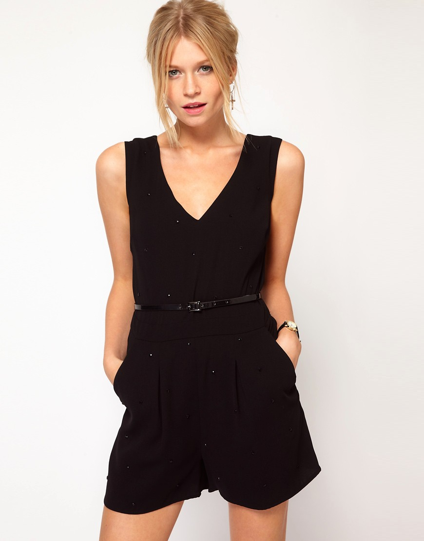 Image 1 of Oasis Studded Playsuit
